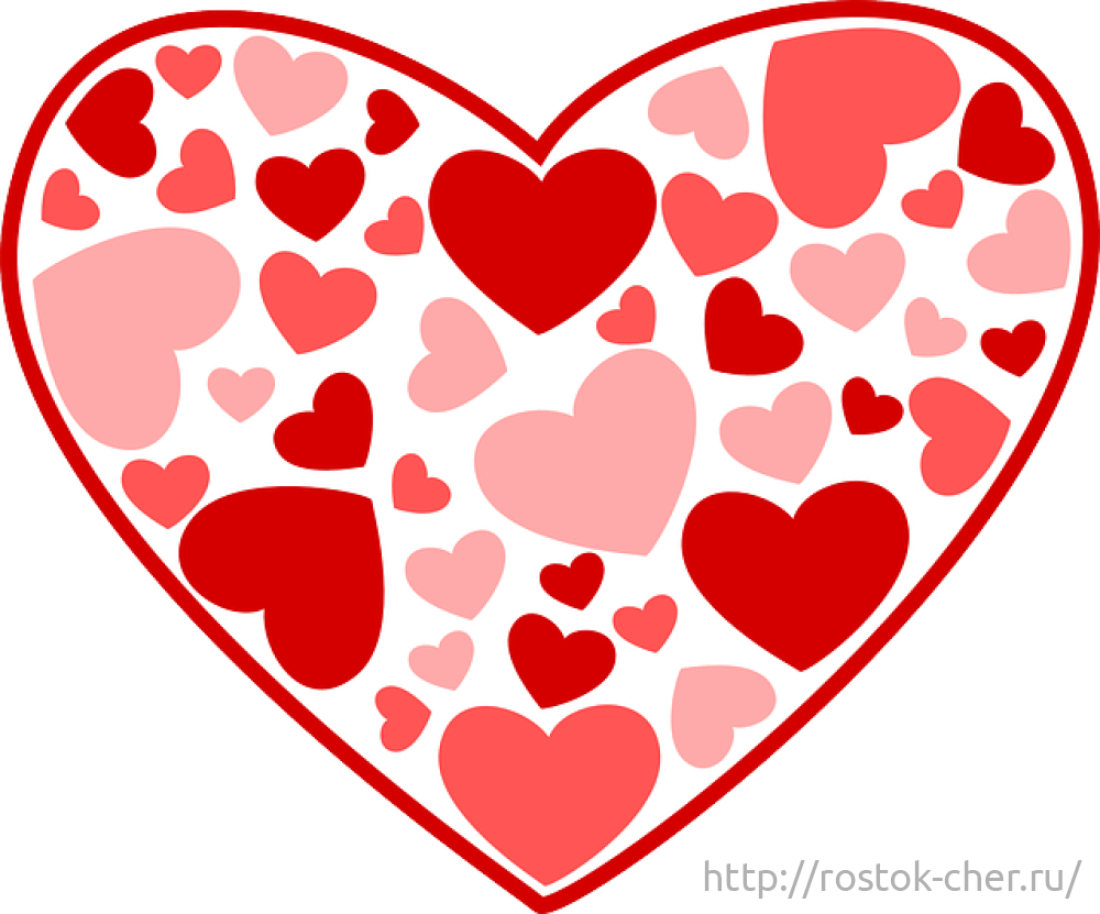 рисунки с сердцами карандашом